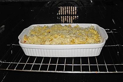 Auberginen mit Pasta und Käse 2