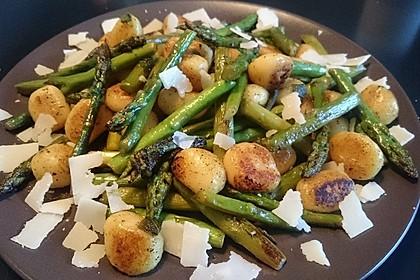 Salbei - Gnocchi mit grünem Spargel 3