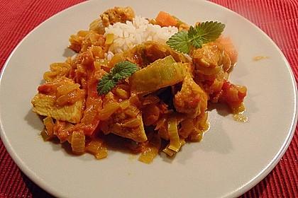 Indisches Tomaten-Hähnchen Curry