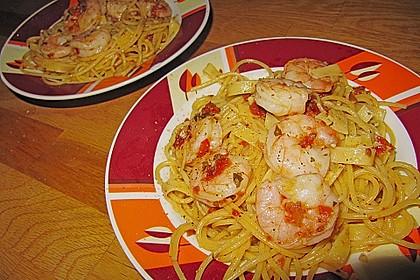 Garnelen in Chutney - Tomaten - Sugo zu Pasta
