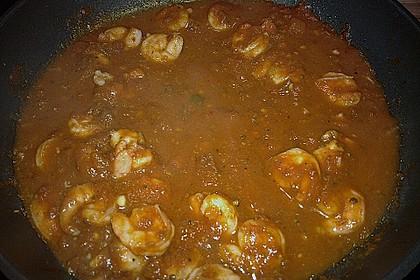 Garnelen in Chutney - Tomaten - Sugo zu Pasta 4