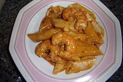 Garnelen in Chutney - Tomaten - Sugo zu Pasta 5