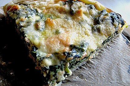 Lachs - Spinat - Quiche