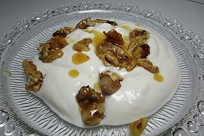 Giechischer Joghurt mit Nüssen und Honig 1