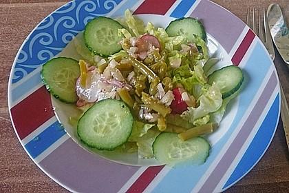 Gemischter Salat mit Honig - Senf - Dressing