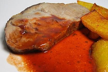 Herzhafte dunkle Sauce zu NT gegartem Fleisch 5