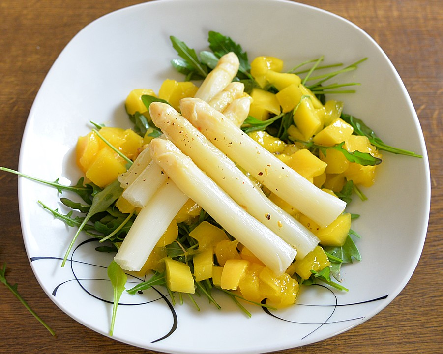 spargel mango rucola salat rezept mit bild. Black Bedroom Furniture Sets. Home Design Ideas