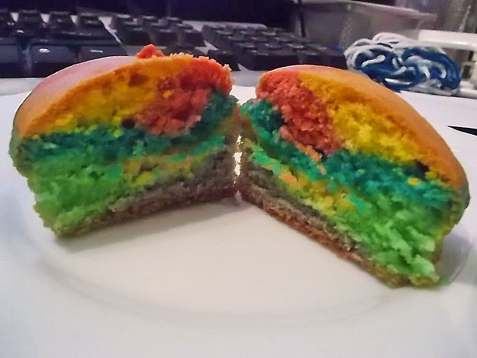regenbogen muffins rezept
