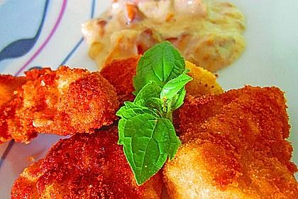 Chicken Nuggets oder Hähnchen Crossies 4