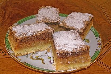 Apfelkuchen mit Mürbeteig und Kakaobiskuit 2