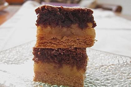 Apfelkuchen mit Mürbeteig und Kakaobiskuit 15