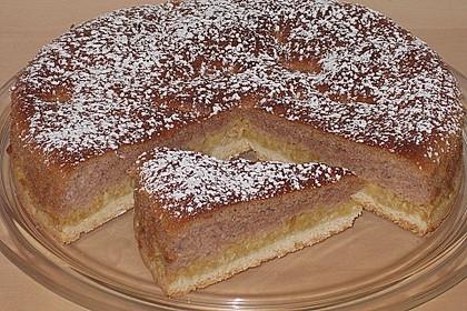Apfelkuchen mit Mürbeteig und Kakaobiskuit 3