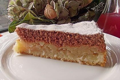 Apfelkuchen mit Mürbeteig und Kakaobiskuit 12