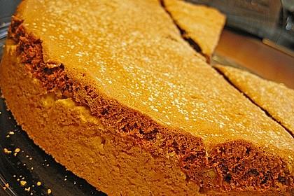 Apfelkuchen mit Mürbeteig und Kakaobiskuit 19