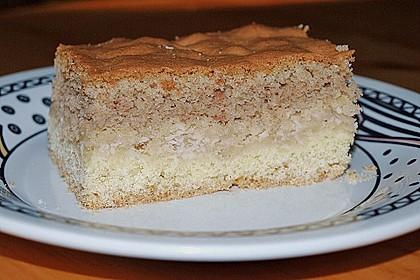 Apfelkuchen mit Mürbeteig und Kakaobiskuit 5