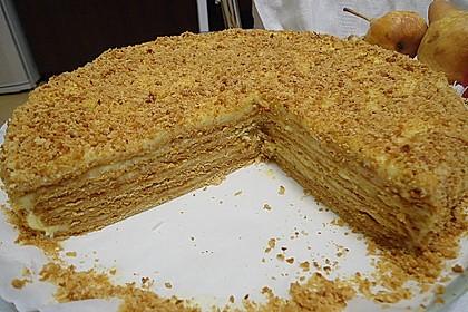 Honigkuchen mit Grießfüllung