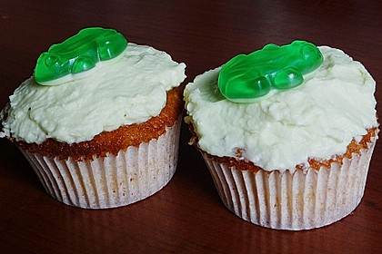 Zitronen - Cupcakes mit Waldmeister - Frischkäse - Creme 53