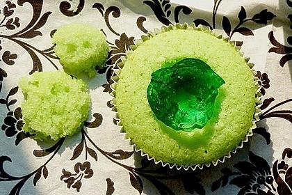 Zitronen - Cupcakes mit Waldmeister - Frischkäse - Creme 54