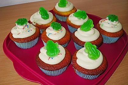 Zitronen - Cupcakes mit Waldmeister - Frischkäse - Creme 38
