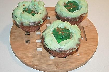 Zitronen - Cupcakes mit Waldmeister - Frischkäse - Creme 66