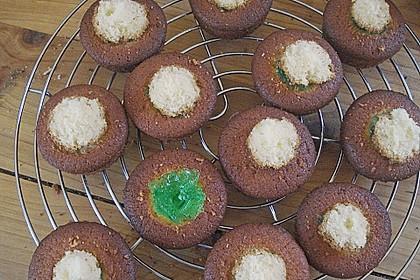 Zitronen - Cupcakes mit Waldmeister - Frischkäse - Creme 69