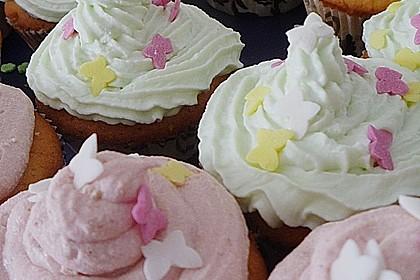 Zitronen - Cupcakes mit Waldmeister - Frischkäse - Creme 52
