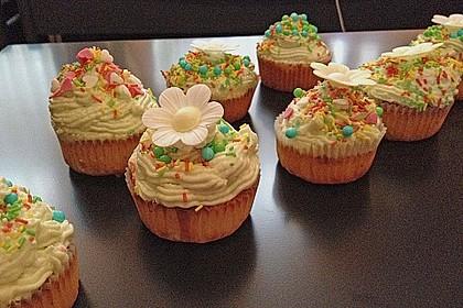 Zitronen - Cupcakes mit Waldmeister - Frischkäse - Creme 27