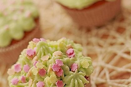 Zitronen - Cupcakes mit Waldmeister - Frischkäse - Creme 5