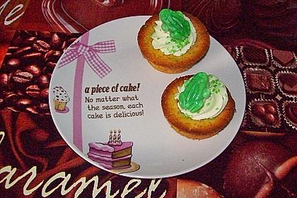 Zitronen - Cupcakes mit Waldmeister - Frischkäse - Creme 58