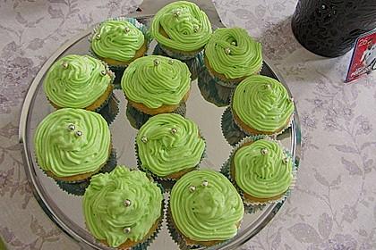 Zitronen - Cupcakes mit Waldmeister - Frischkäse - Creme 39