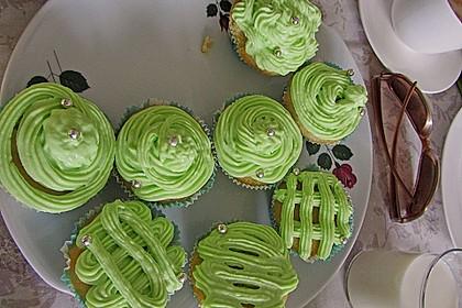 Zitronen - Cupcakes mit Waldmeister - Frischkäse - Creme 45