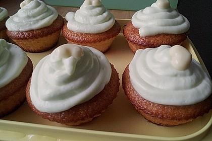 Zitronen - Cupcakes mit Waldmeister - Frischkäse - Creme 48