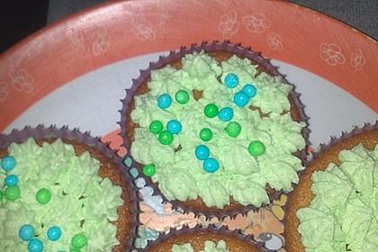 Zitronen - Cupcakes mit Waldmeister - Frischkäse - Creme 65