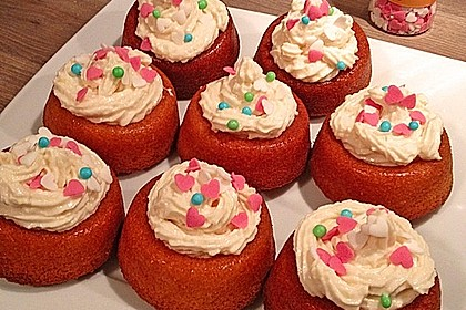 Zitronen - Cupcakes mit Waldmeister - Frischkäse - Creme 62