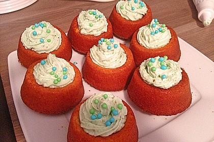 Zitronen - Cupcakes mit Waldmeister - Frischkäse - Creme 59