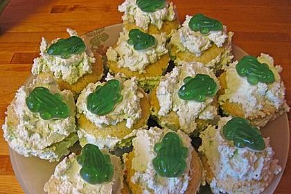 Zitronen - Cupcakes mit Waldmeister - Frischkäse - Creme 76