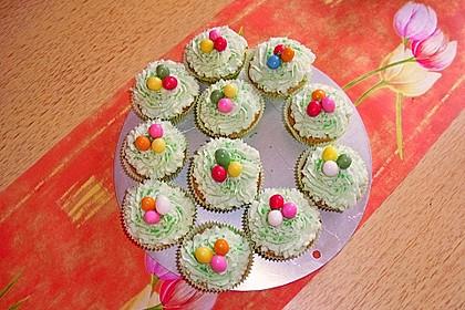 Zitronen - Cupcakes mit Waldmeister - Frischkäse - Creme 19