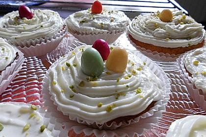 Zitronen - Cupcakes mit Waldmeister - Frischkäse - Creme 33