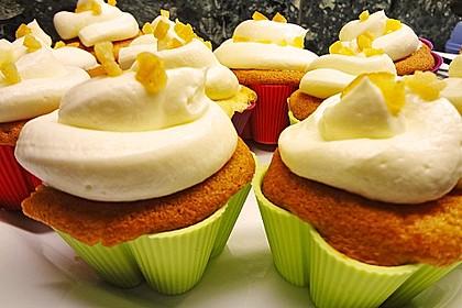 Zitronen - Cupcakes mit Waldmeister - Frischkäse - Creme 36