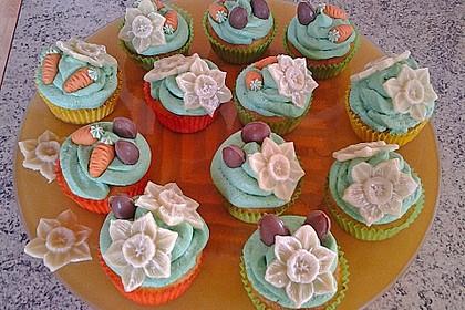 Zitronen - Cupcakes mit Waldmeister - Frischkäse - Creme 31
