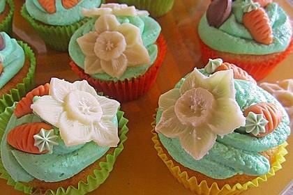 Zitronen - Cupcakes mit Waldmeister - Frischkäse - Creme 13