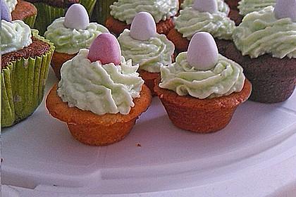 Zitronen - Cupcakes mit Waldmeister - Frischkäse - Creme 61