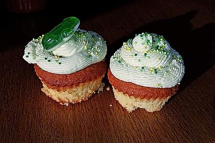 Zitronen - Cupcakes mit Waldmeister - Frischkäse - Creme 75