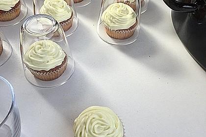 Zitronen - Cupcakes mit Waldmeister - Frischkäse - Creme 14