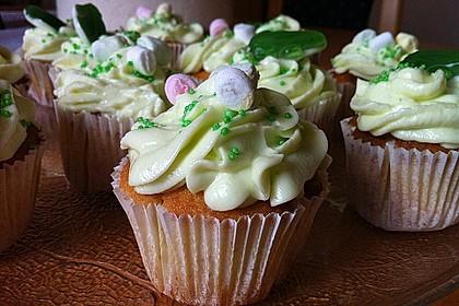 Zitronen - Cupcakes mit Waldmeister - Frischkäse - Creme 2
