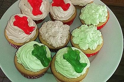 Zitronen - Cupcakes mit Waldmeister - Frischkäse - Creme 20