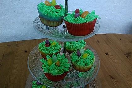Zitronen - Cupcakes mit Waldmeister - Frischkäse - Creme 16