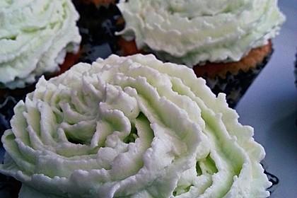 Zitronen - Cupcakes mit Waldmeister - Frischkäse - Creme 1