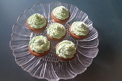 Zitronen - Cupcakes mit Waldmeister - Frischkäse - Creme 29
