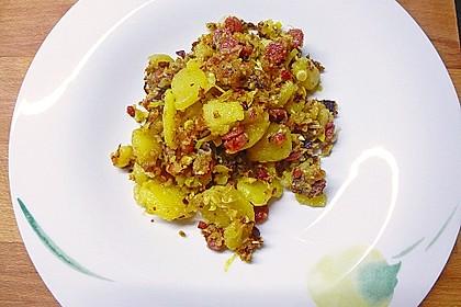 Kartoffel - Gröstl mit Lauch 2